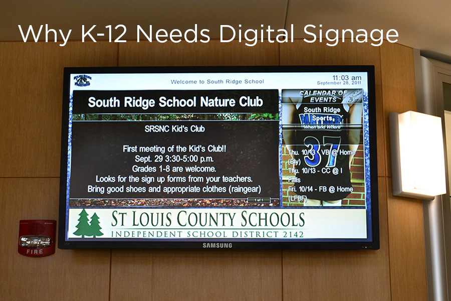 Digital Signage in K-12 Schools